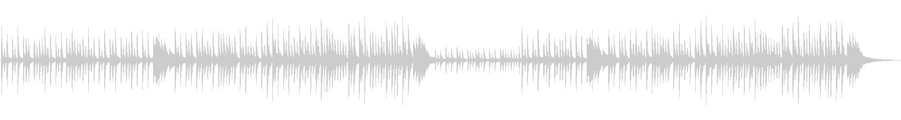 幻想的で不思議な切ないピアノソロの未再生の波形