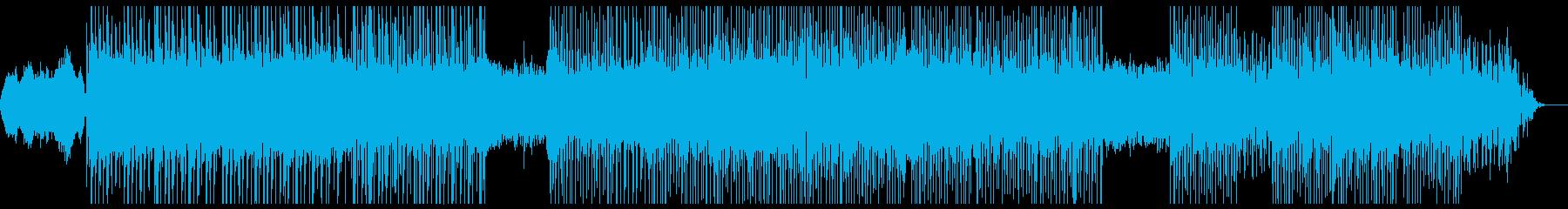 緊迫感のあるインストゥルメンタルロックの再生済みの波形