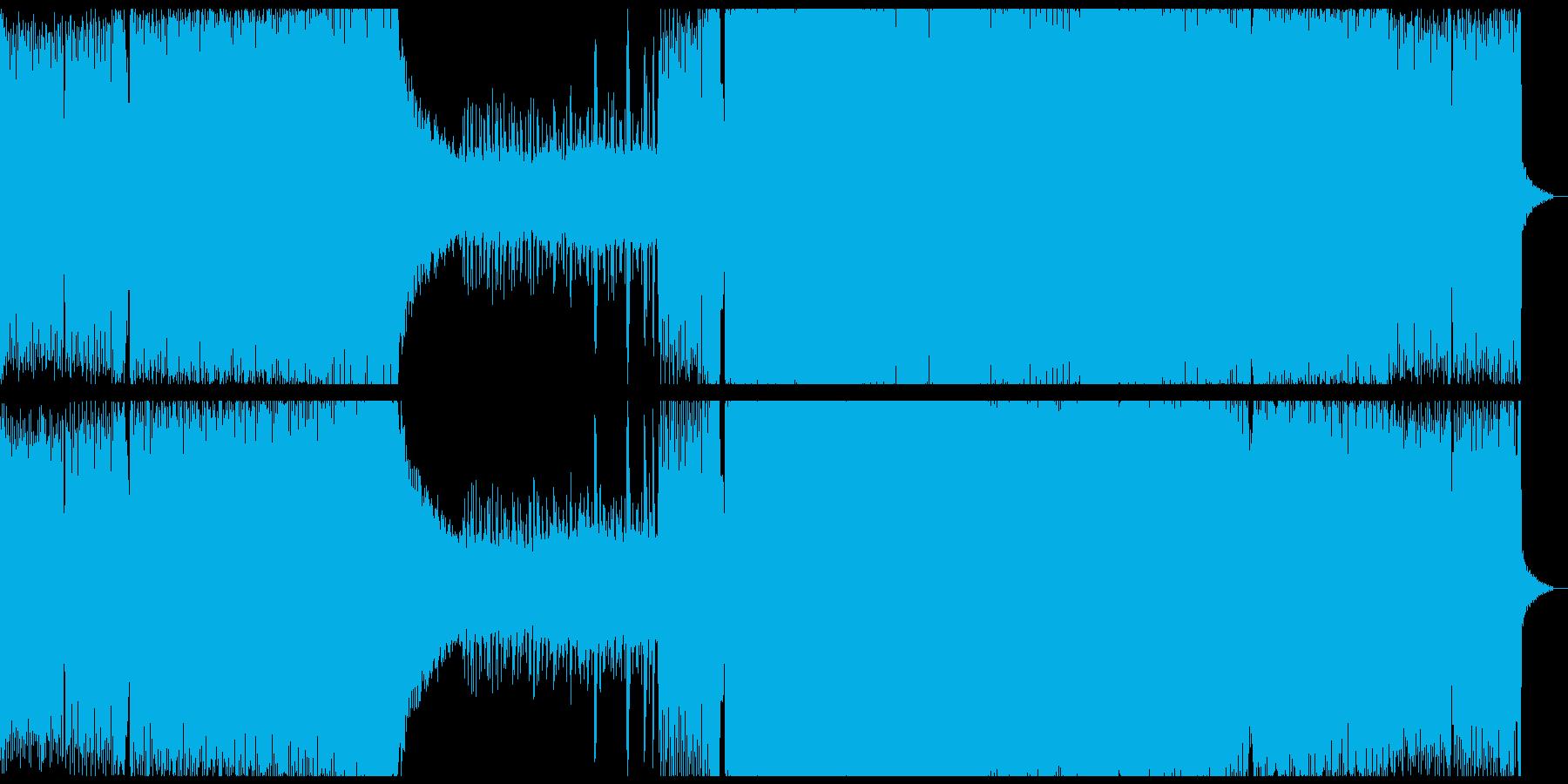 激しさと浮遊感のあるトランスの再生済みの波形