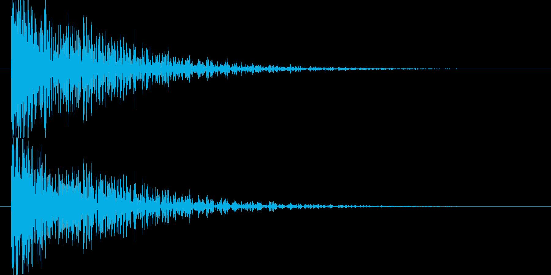 重く裂ける音の再生済みの波形
