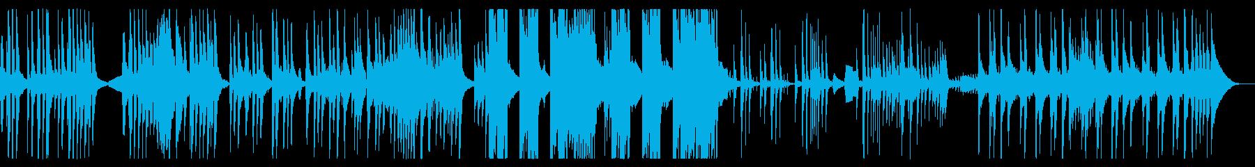 暗くややコミカルなファンタジー楽曲の再生済みの波形