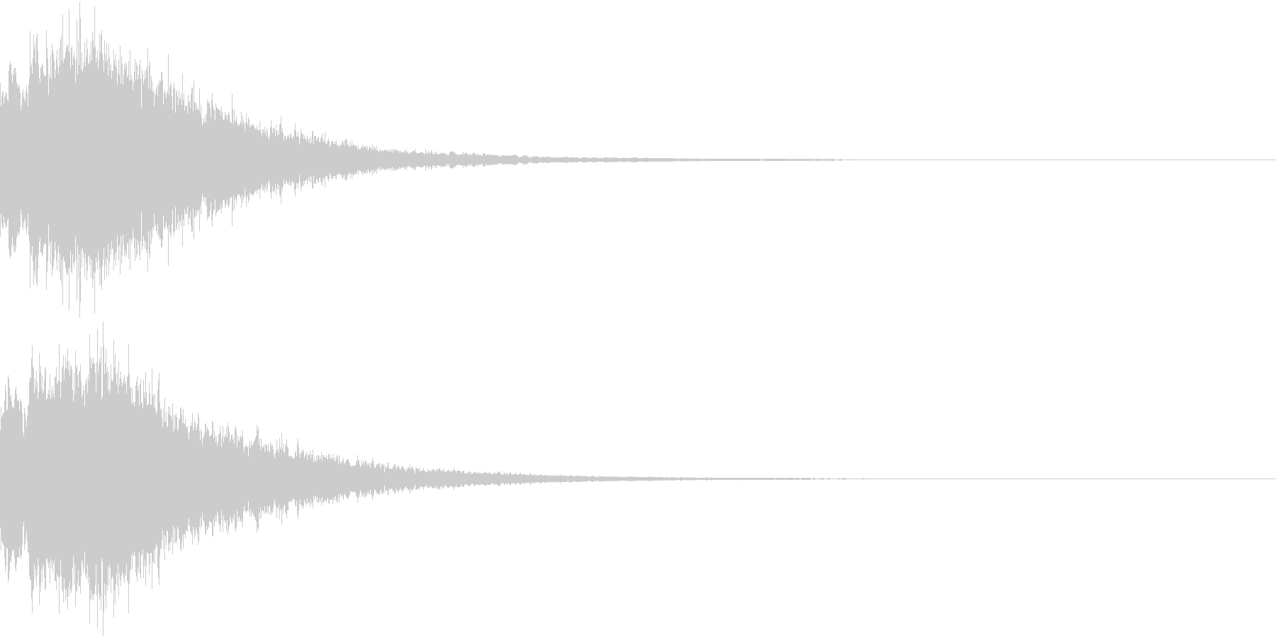 DigitalCoin 電子決済音 2の未再生の波形