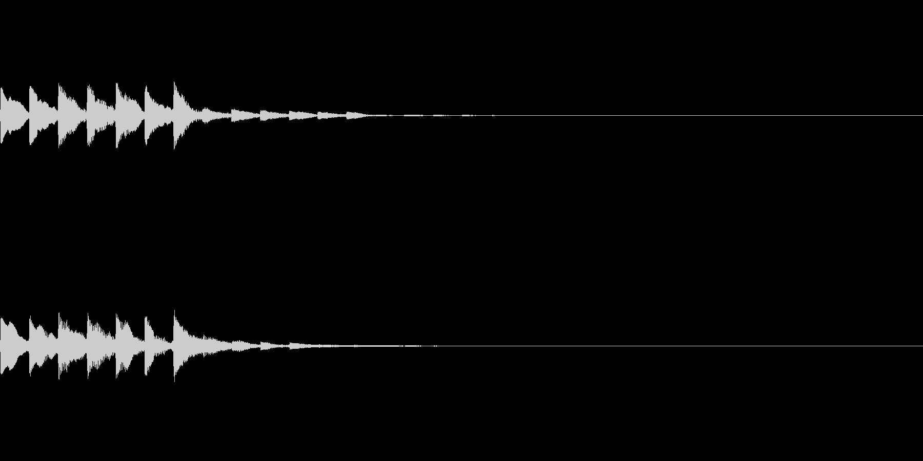 ピロロロロピ【決定音、タッチ音】の未再生の波形