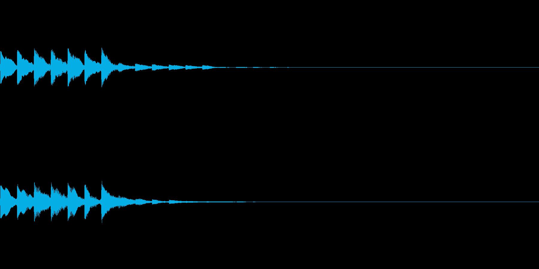 ピロロロロピ【決定音、タッチ音】の再生済みの波形