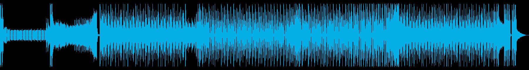 洗練されたクールな近未来的なインストの再生済みの波形