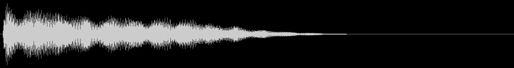 マレット系 タッチ音1(長)の未再生の波形