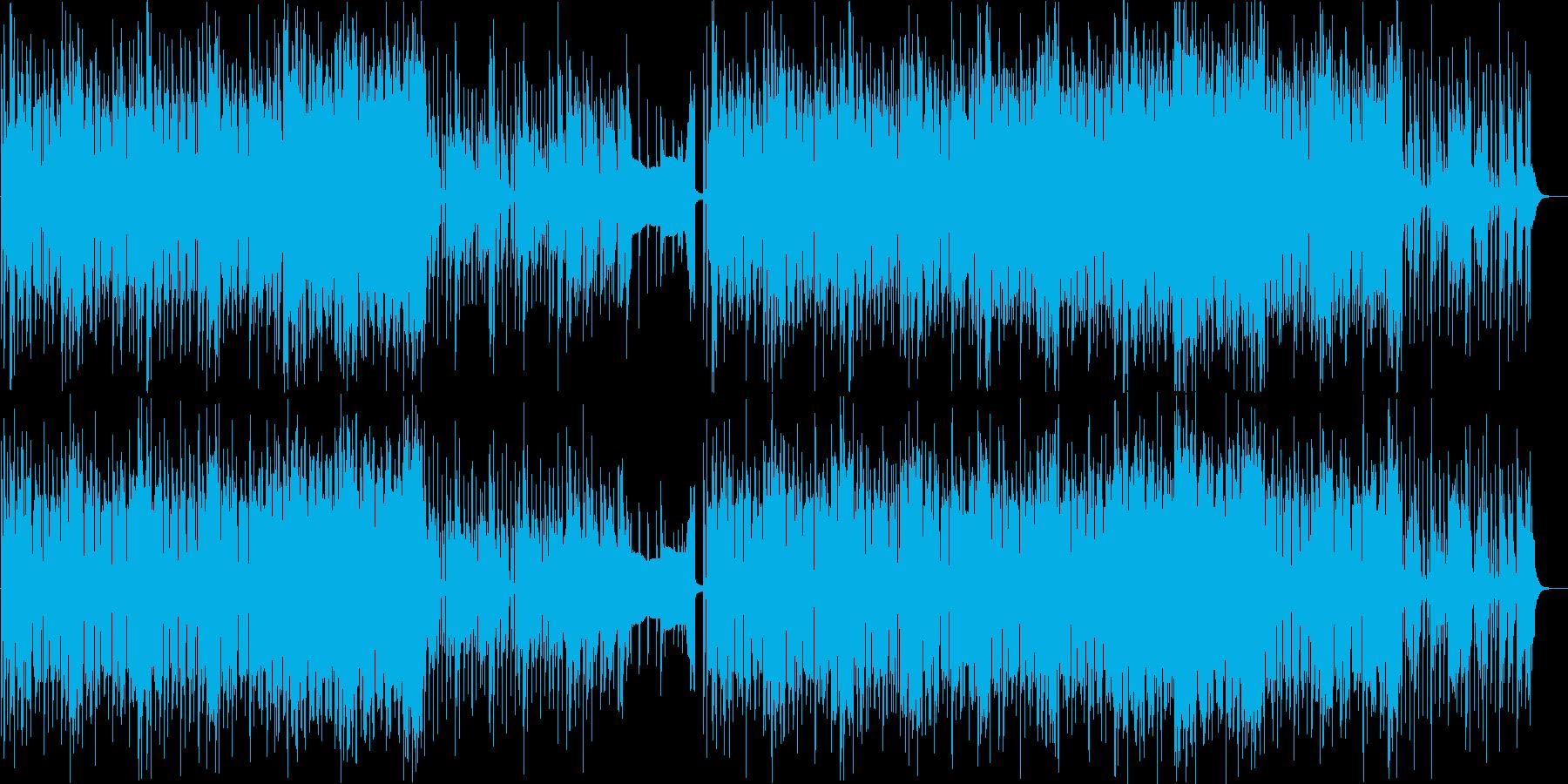 ピアノがおしゃれなハウスポップなダンス曲の再生済みの波形