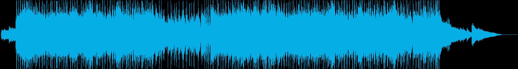 ストリングスが映えるアップテンポ曲の再生済みの波形