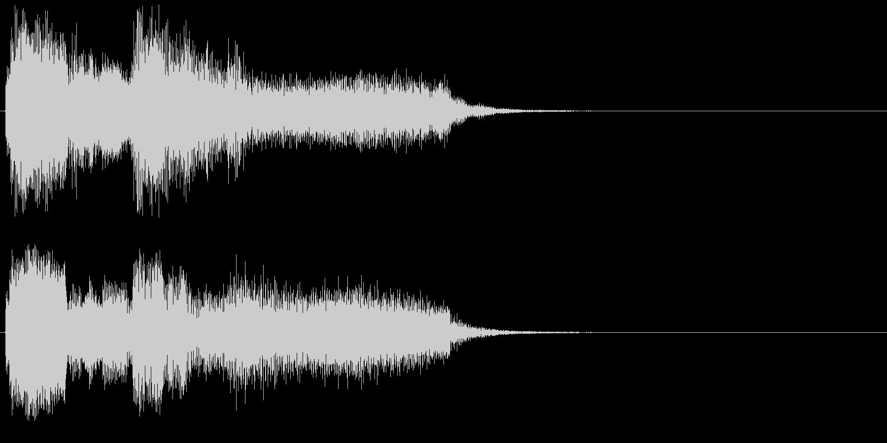 不安な場面用のジングル(事件、お化け等)の未再生の波形