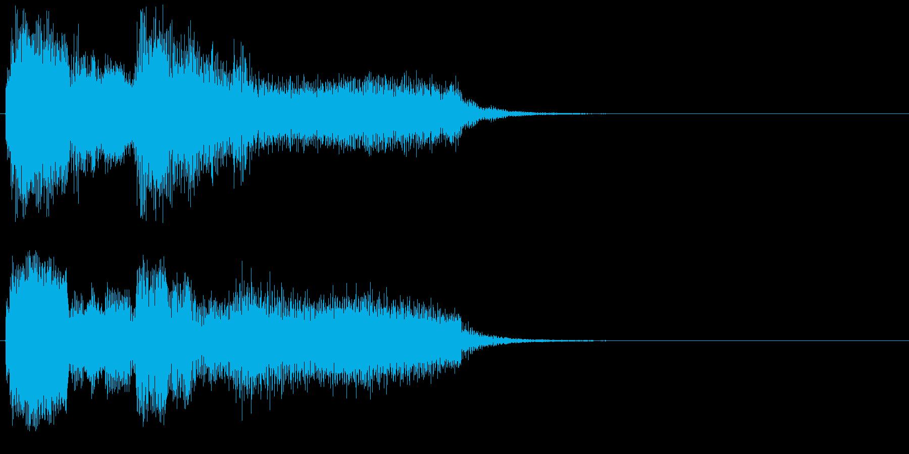 不安な場面用のジングル(事件、お化け等)の再生済みの波形