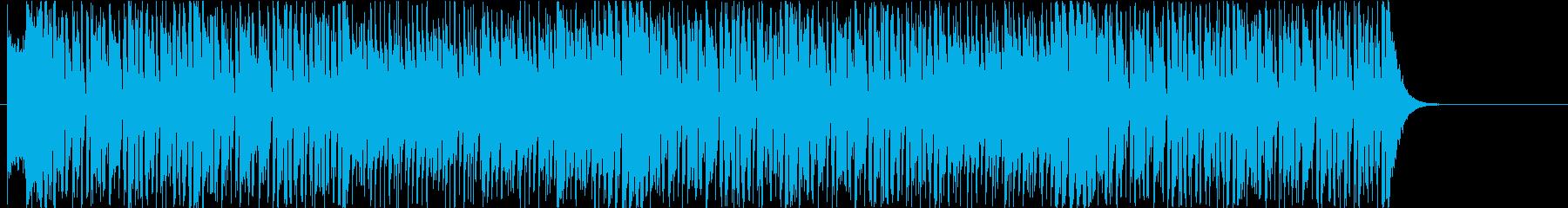 ショータイムの幕開け!という感じのBGMの再生済みの波形