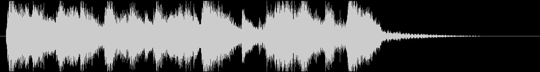 ハロウィンジングルの未再生の波形