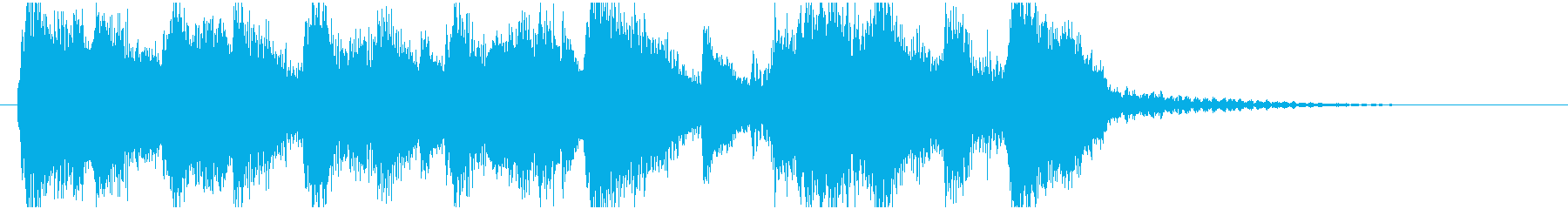 ハロウィンジングルの再生済みの波形