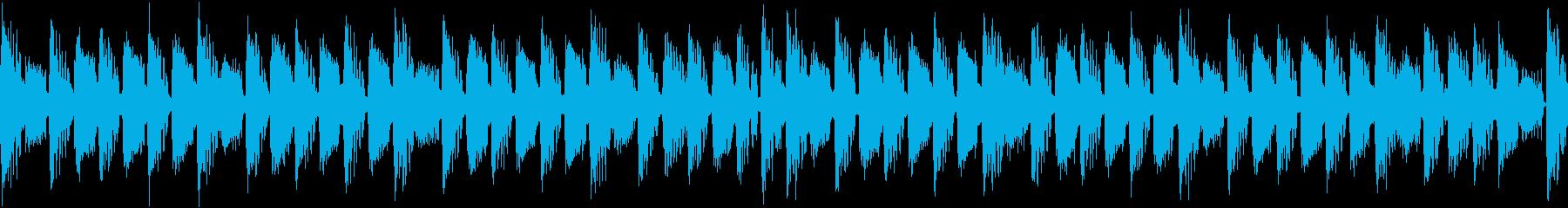 躍動的で流麗な高速ループジングルの再生済みの波形