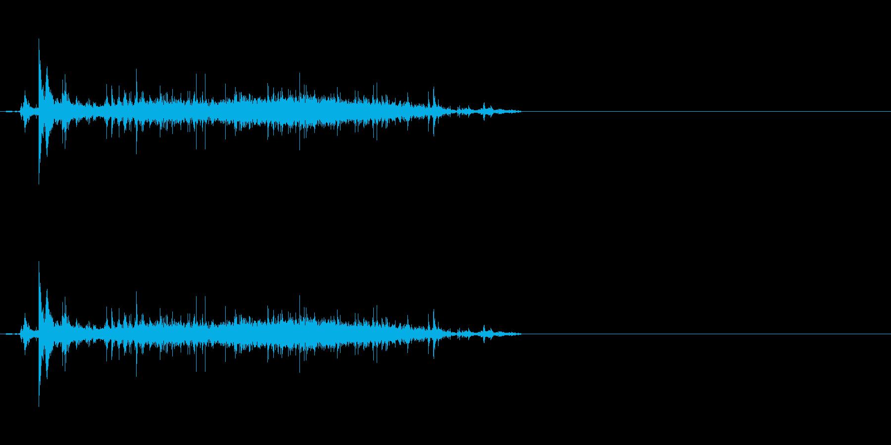 ボウルにお米を入れる音の再生済みの波形