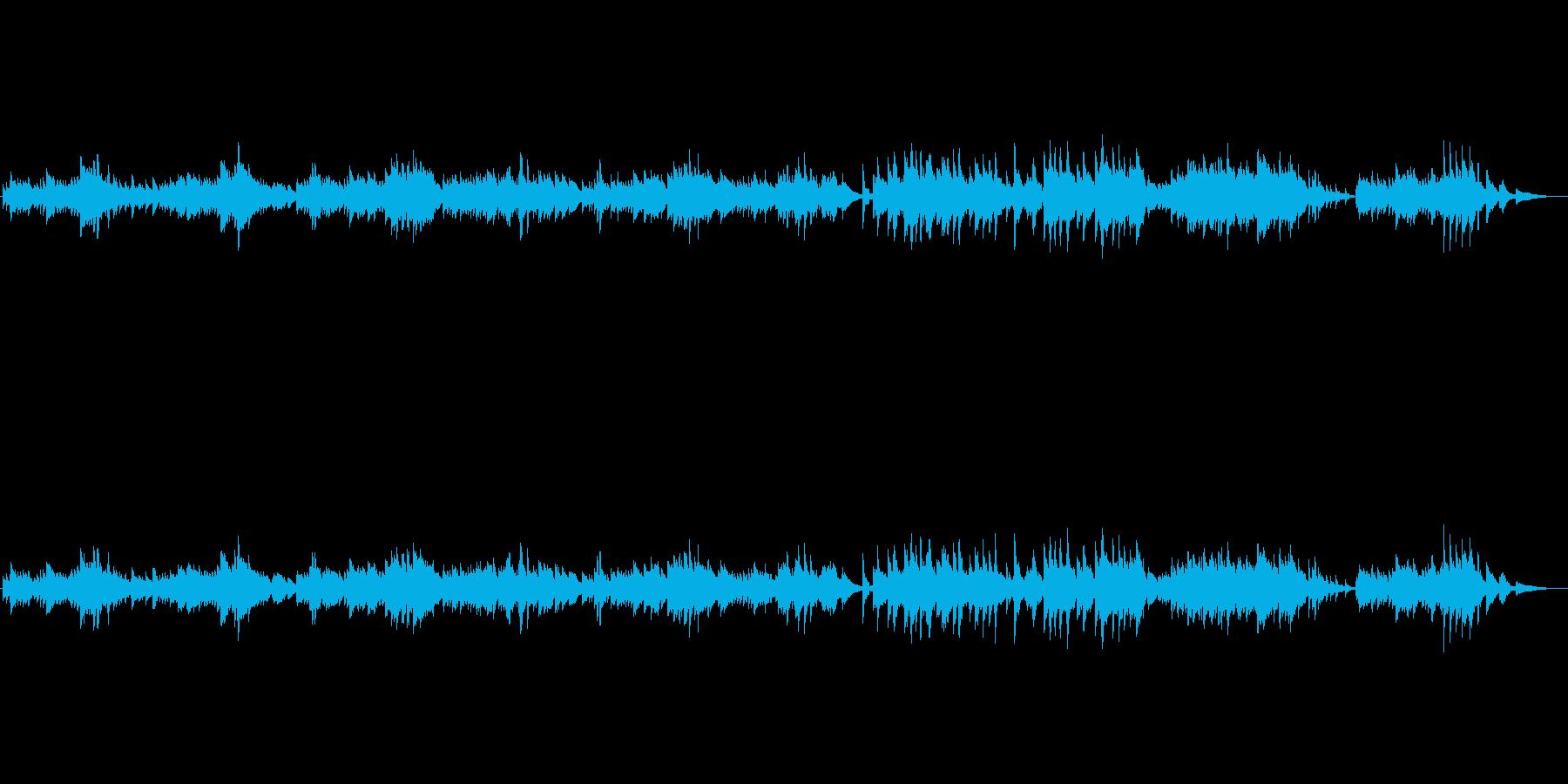 素朴なハープソロ『さらばピアノよ』の再生済みの波形