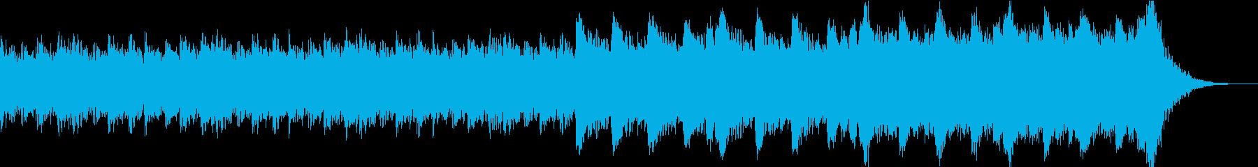 緊迫感のある盛り上がるハリウッド系BGMの再生済みの波形