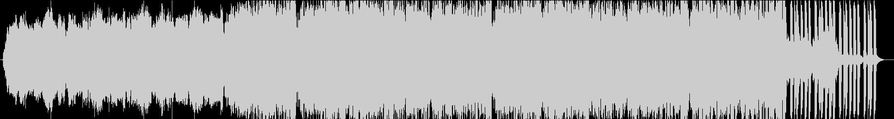 さざなみをイメージしたヒーリングBGMの未再生の波形