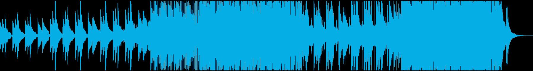 洋楽で悲しい曲の再生済みの波形