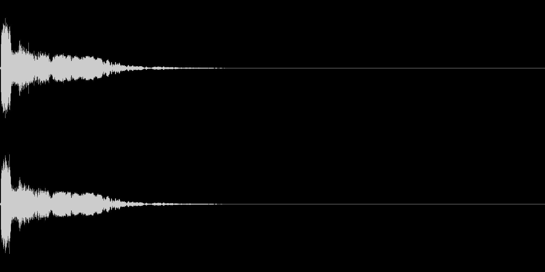 剣・刀が当たる音_1の未再生の波形