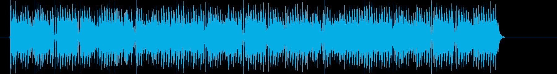 混乱しているコンピュータ音の再生済みの波形