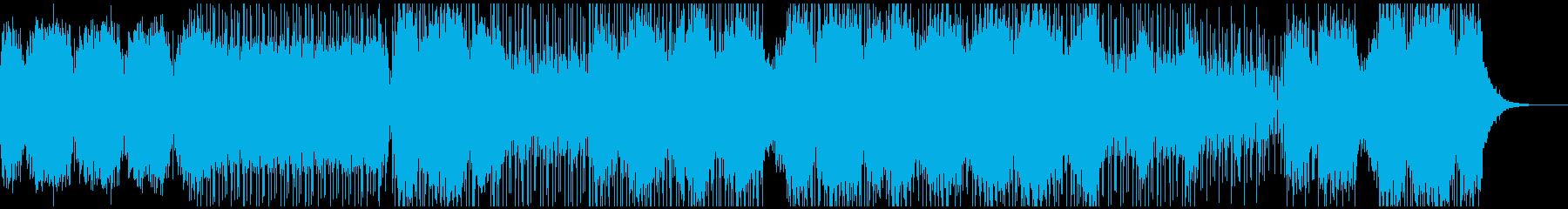 浮遊感のある無機質なDnB風テクスチャの再生済みの波形