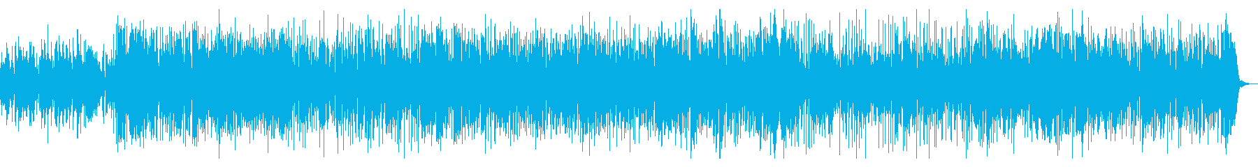 ソロの楽器が入れ替わるスムースジャズの再生済みの波形