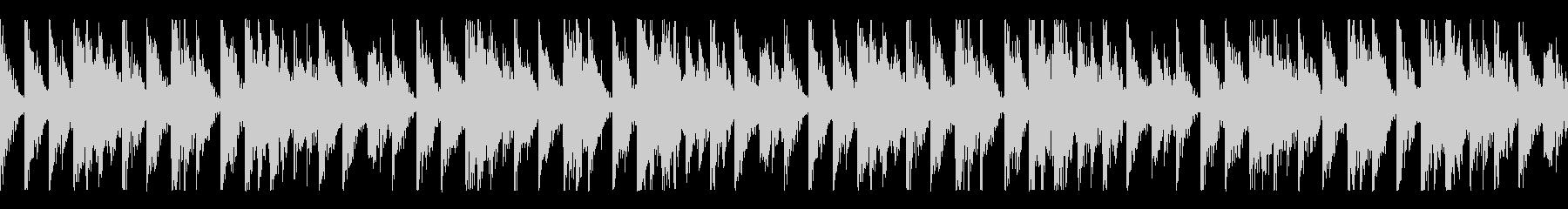シンプルで特徴的なリズムの待機中BGMの未再生の波形