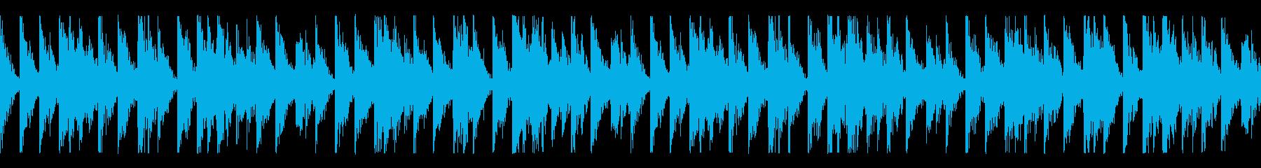シンプルで特徴的なリズムの待機中BGMの再生済みの波形