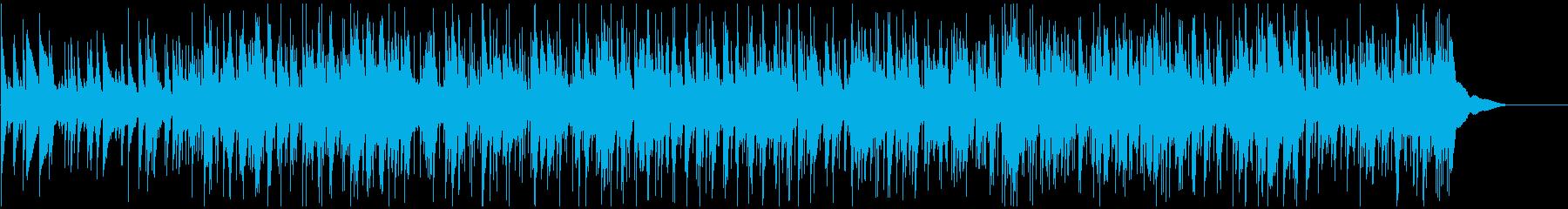 ほのぼのとしたアコースティックバラードの再生済みの波形