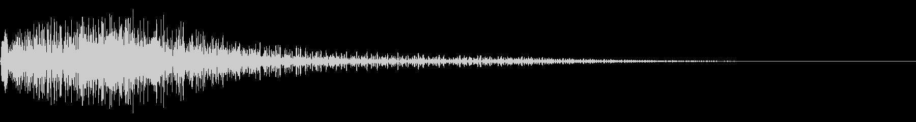 衝撃音(ギャン/ギョン)の未再生の波形