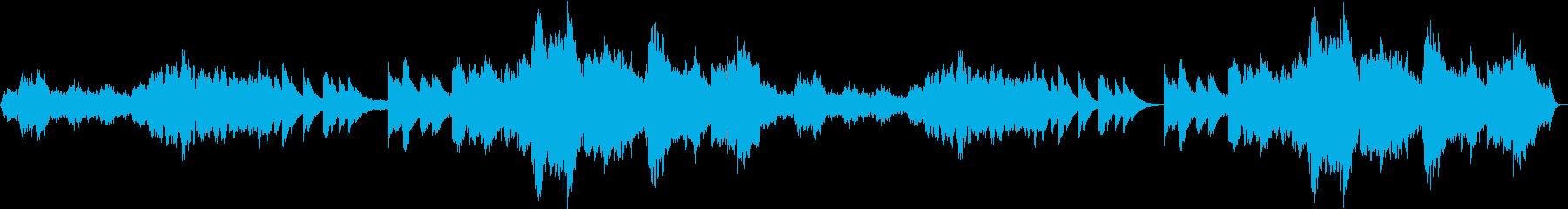 賛美歌のように神聖な雰囲気のヒーリング曲の再生済みの波形