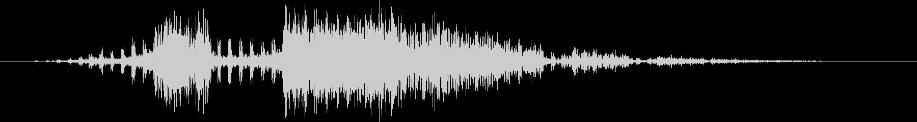 ビィリリ・・・(スパーク音)の未再生の波形