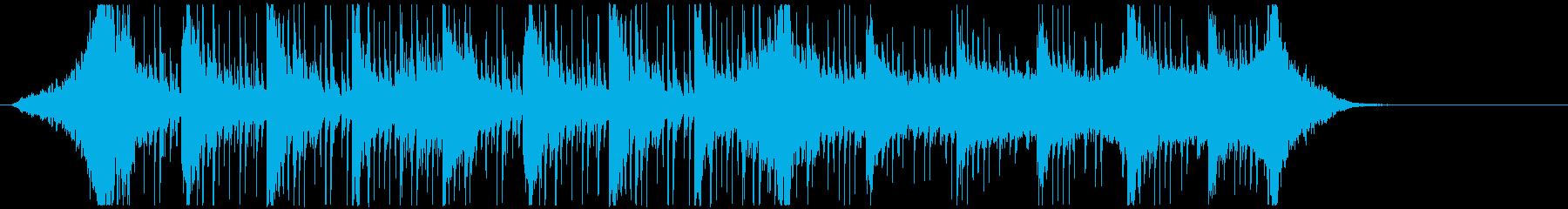 緊張感のあるオーケストラ曲の再生済みの波形