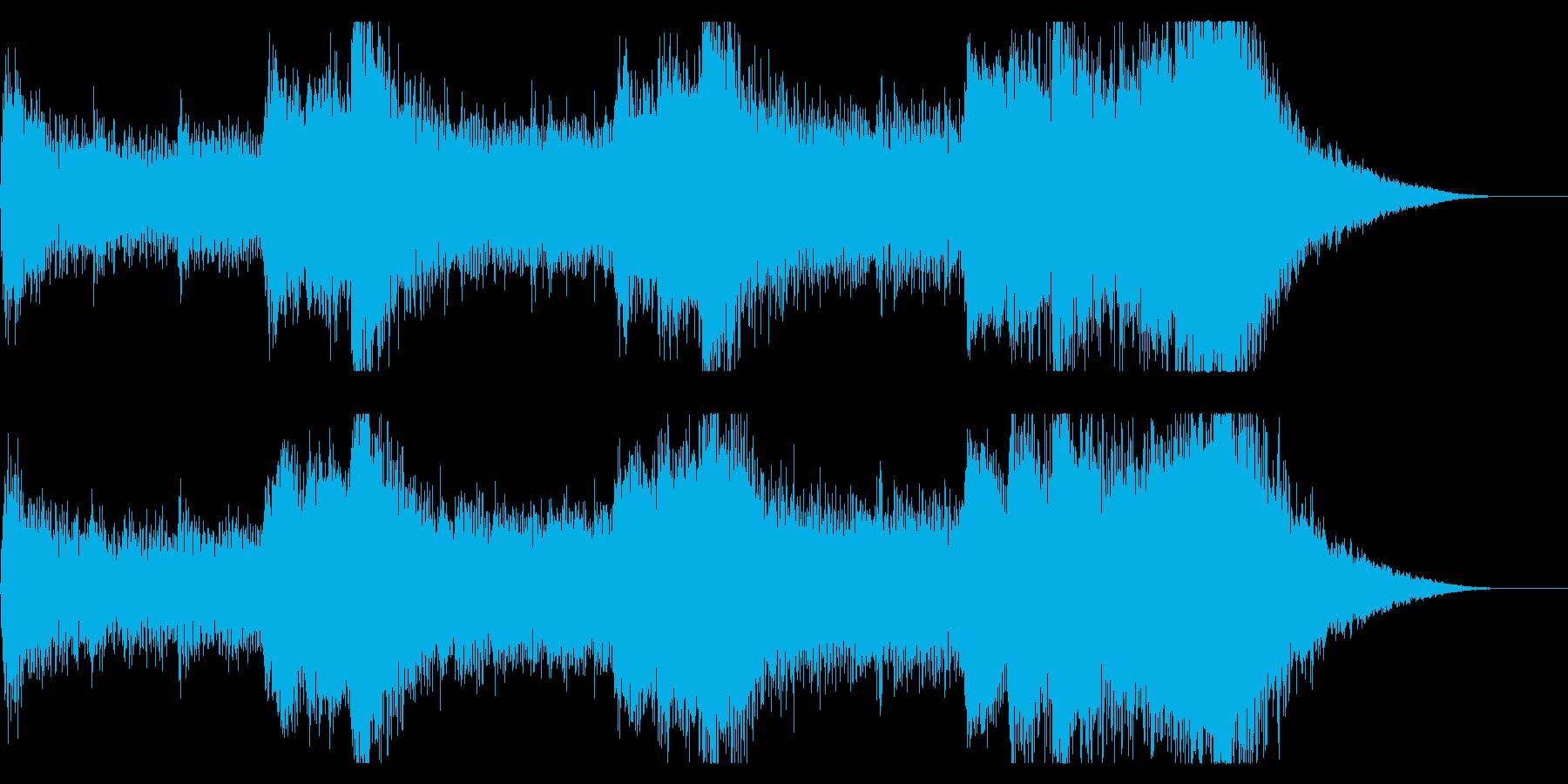 音楽、ベインステム、ドローン、プラ...の再生済みの波形