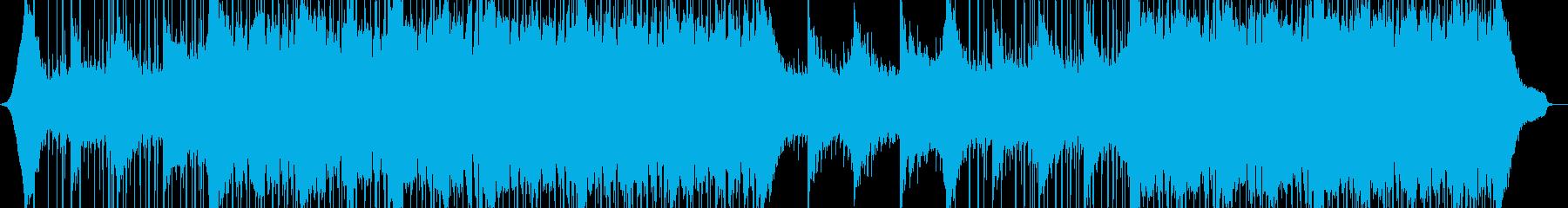 心に強く訴える電子音楽の再生済みの波形