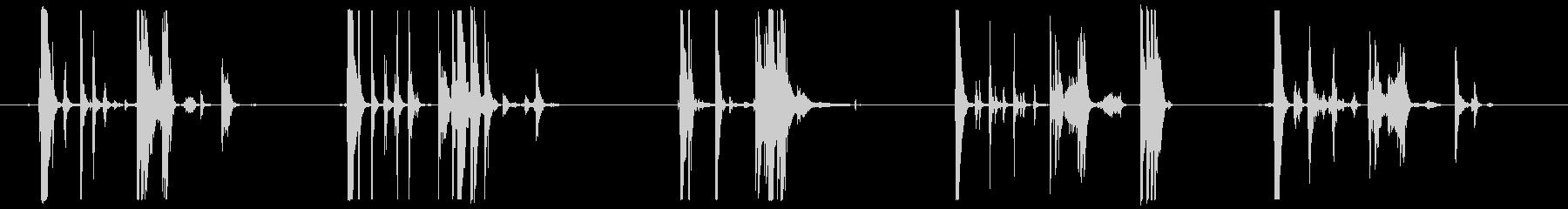 メタルバケットドロップスアンドロールスの未再生の波形