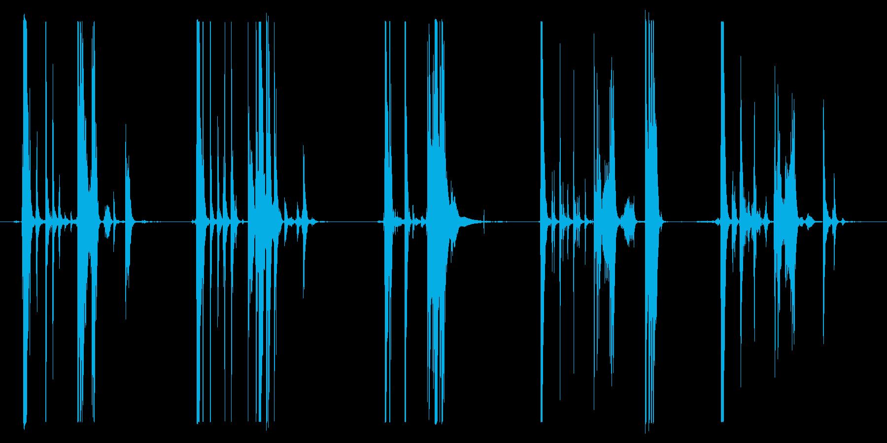メタルバケットドロップスアンドロールスの再生済みの波形