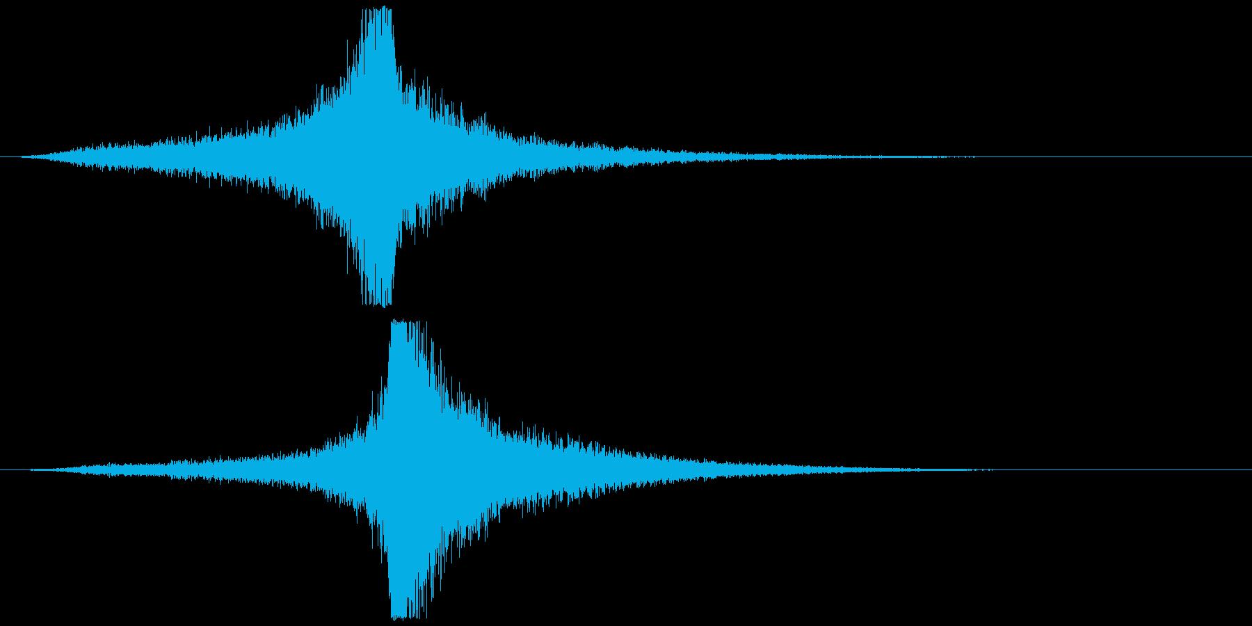 宇宙船・飛翔体#4通過 左〜右ゆっくりの再生済みの波形