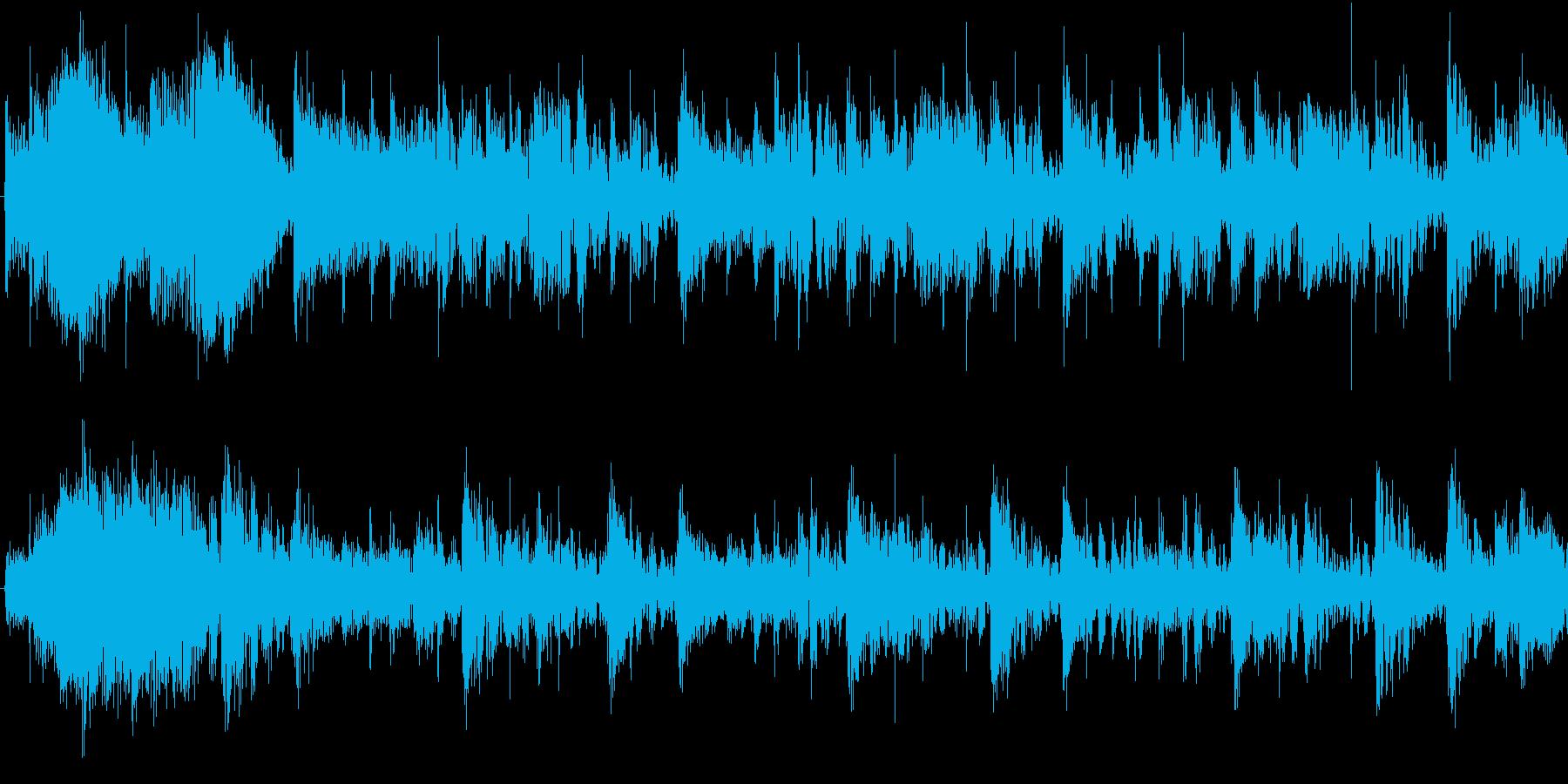 パーカッションが特徴的なループテクノの再生済みの波形