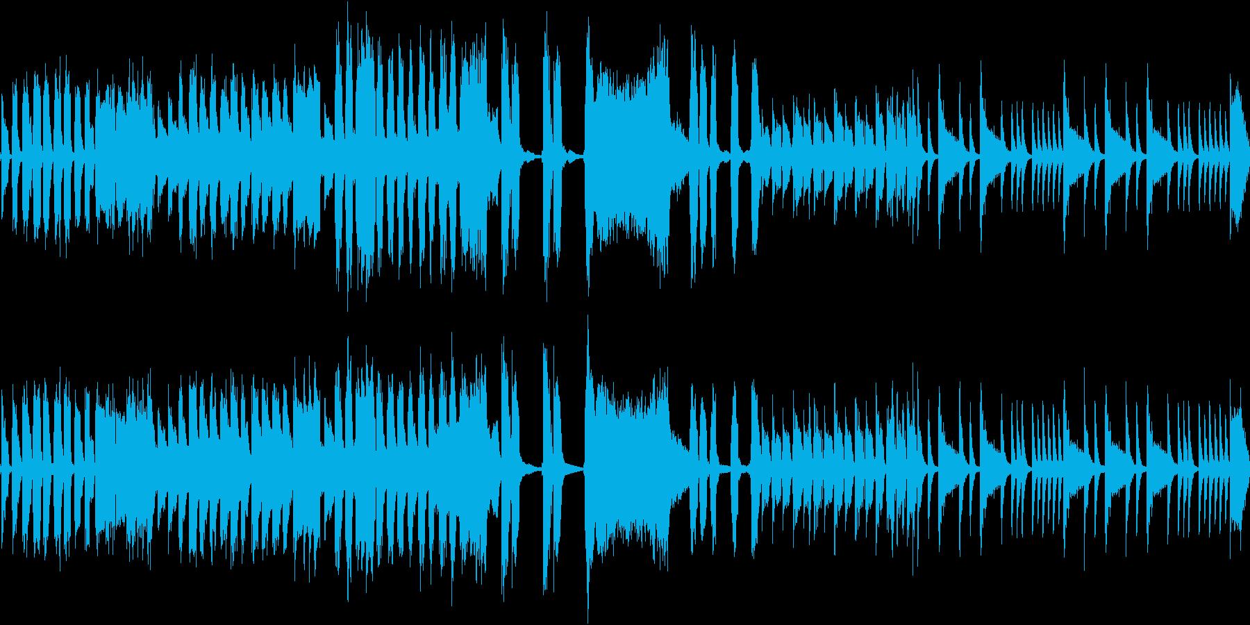 わくわくするマーチングバンド風(ループ)の再生済みの波形