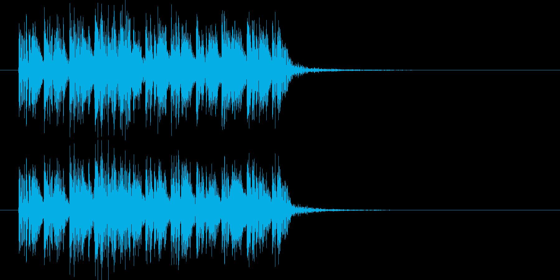 スピード感のあるテクノロックの再生済みの波形