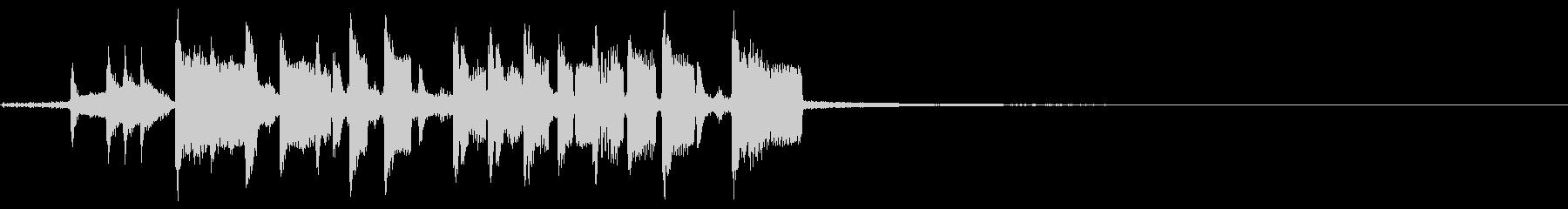 ヘビーホップの未再生の波形