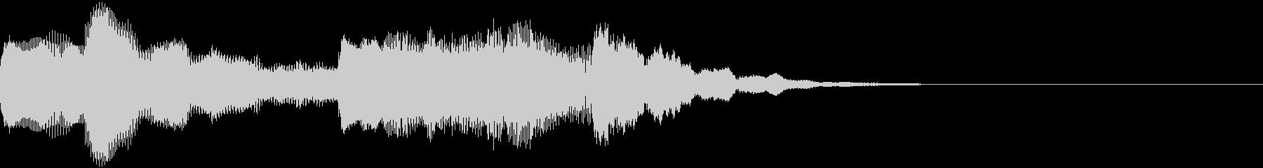 神秘的なクリスタル音07- ジングルCMの未再生の波形