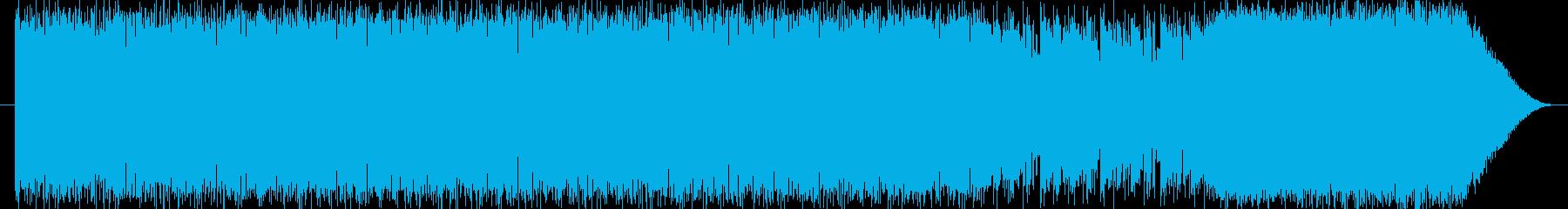 アクションゲーム風テクノBGMの再生済みの波形