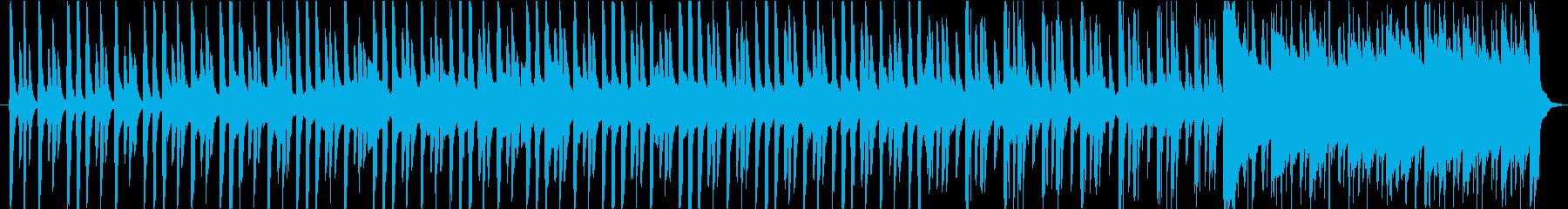 宇宙をイメージしたシンセのジングルの再生済みの波形