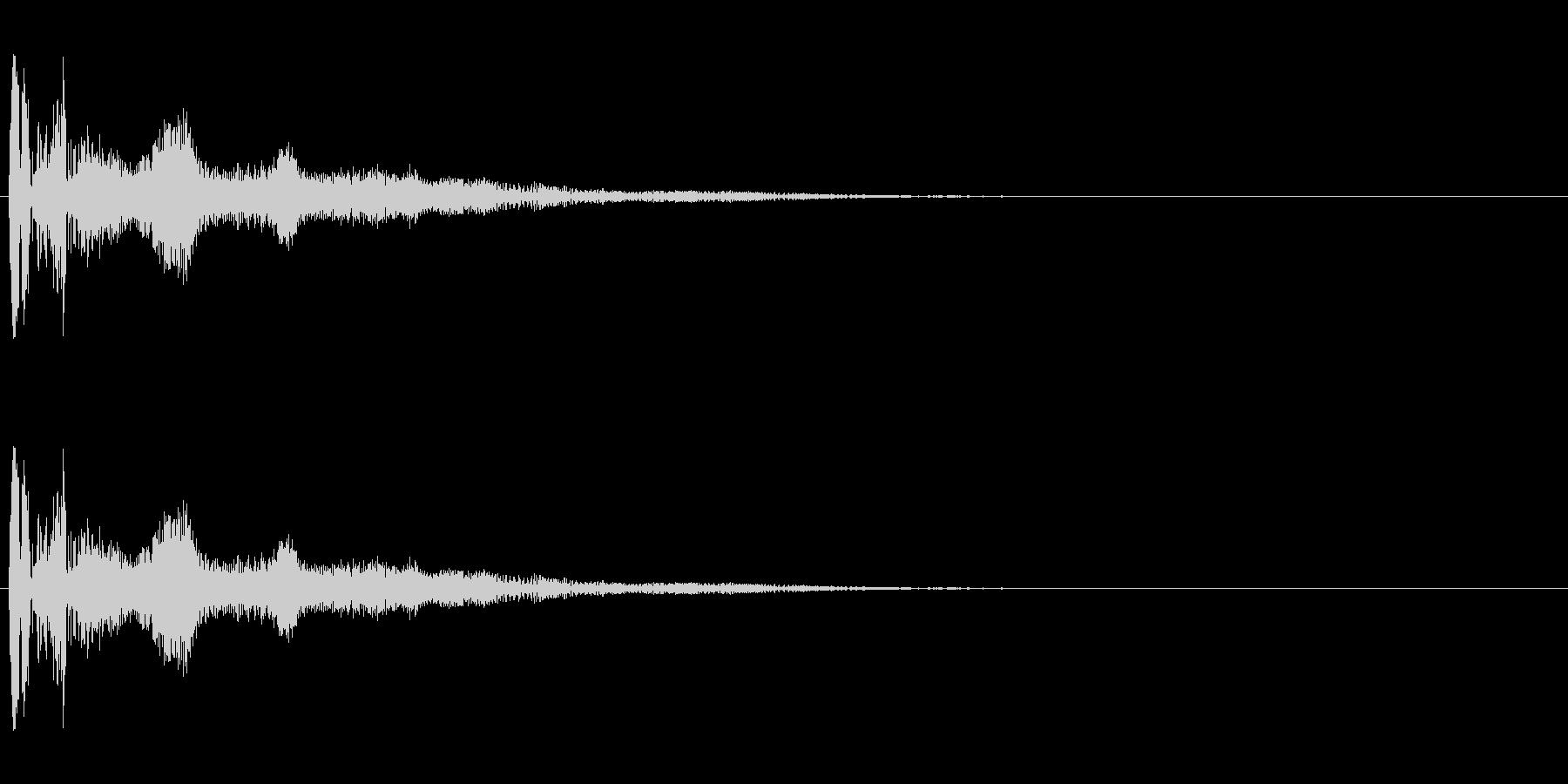 ボヨヨーン(低い)コミカル効果音の未再生の波形