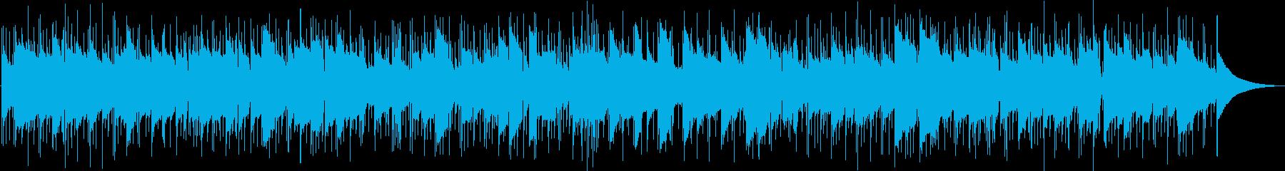 退屈な休日をイメージしたBGMの再生済みの波形