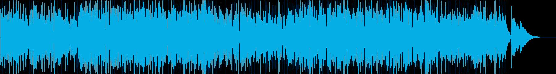 ファンキーなビートの演歌風ギターインストの再生済みの波形