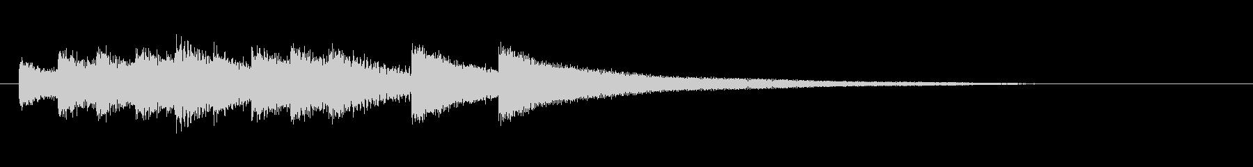 合格 正解 チャイム 鐘の未再生の波形